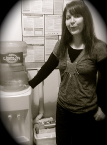 Introducing Kathy & our new water cooler!